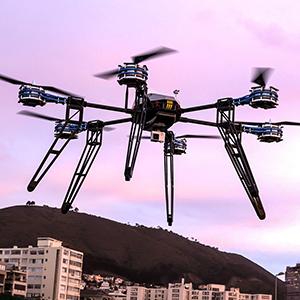 Drohne in der Stadt
