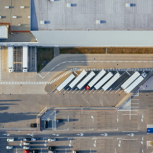 Logistik-Hub aus der Vogelperspektive
