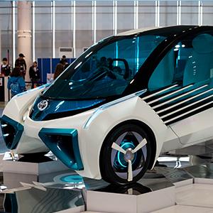 Prototyp eines Autos mit Wasserstoffantrieb