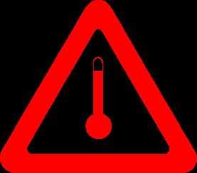 Piktogramm für erwärmt geführte Gefahrgüter