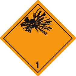 Gefahrzettel Klasse 1