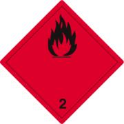 Gefahrzettel Klasse 2.1
