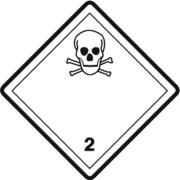 Gefahrzettel Klasse 2.3