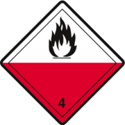 Gefahrzettel Klasse 4.2