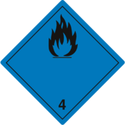 Gefahrzettel Klasse 4.3