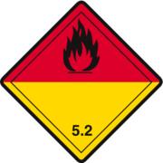 Gefahrzettel Klasse 5.2