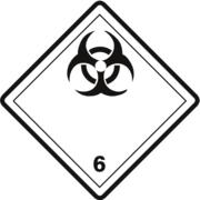 Gefahrzettel Klasse 6.2
