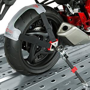 Spezieller Hinterrad-Spanngurt für Motorräder