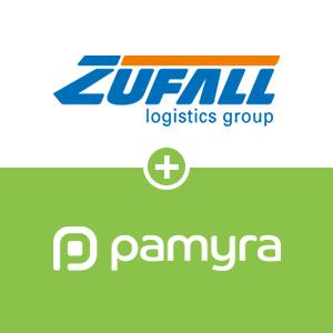 Axthelm und Zufall und Pamyra.de Logo